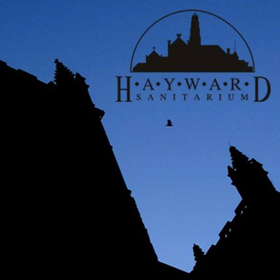 Logo for Hayward Sanitarium, showing a shadowy image on the coast of Maine
