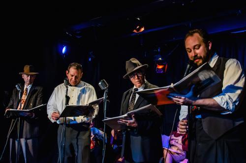 Fake Radio's Dan Kinsella, David Koff, Peter Lownds & Dave Cox (credit: Jorge Vismara)